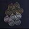 10 Lotus Charms Antique Bronze/ Silver Mix