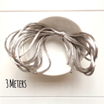 3 Meters Satin Nylon Cord -Silver