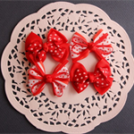 Pretty Polka Dot and Grosgrain Ribbon Bows