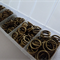 1 box Antique bronze jump rings- Approximately 1500