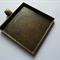10 x Square 35mm antique bronze pendant trays