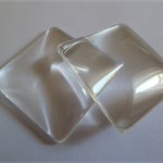 10 x Square 35mm glass domes