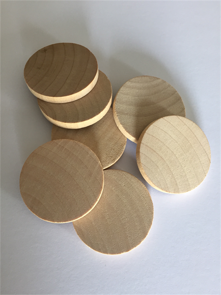10 x 1.5 Inch Flat edge wooden disks