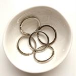 10 x Keyring / keychain loops. Split rings