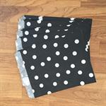 10 x black polka dot paper bags