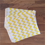 10 x yellow chevron stripe paper bags.