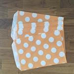 10 x melon polka dot paper bags.
