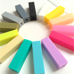 Silicone Cuboid / rectangle Beads x 20