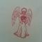 Machine Embroidery Quilt/Craft Block Redwork Peaceful Angel Design