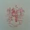 Machine Embroidery Quilt/Craft Block Redwork Serene Snowman Design