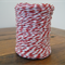 FULL ROLL - 100 Metres - Red & White Paper String