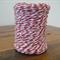 FULL ROLL - 100 Metres - Red & White Paper String