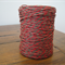 FULL ROLL - 100 Metres - Taupe & Red Paper String