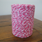 FULL ROLL - 100 Metres - Hot Pink & White Paper String