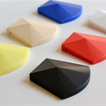 1 x Big Faceted Silicone Pendant Bead