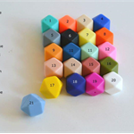 50 x Hexagon Silicone Beads