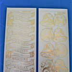 2 Christmas Sticker Sheets/ Transparent gold stickers