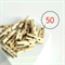 Natural Mini Wood Pegs {50} | Paperclips Gift Wrap Scrapbooking