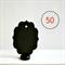 Black Chalkboard Tags {50} Blank Vintage Style | Labels Tags