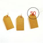 Kraft {50} Retro Medium Luggage Gift Tags Blank Unthreaded DIY Supplies Labels