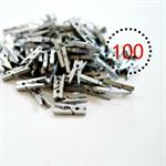 Silver Mini Pegs {100} Wood Gift Wrap Scrapbooking Embellishments