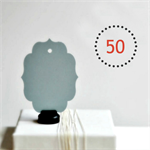 Grey Chalkboard Tags {50} Blank Vintage Style | Labels Tags