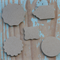 50 Assorted Kraft Tags ~ Punched Shapes ~ Christmas ~ DIY projects ~ Price Tags
