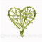 50 Green Heart Wire Tags
