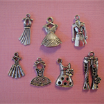 Over 100 Silver Tone Charms - Mixed