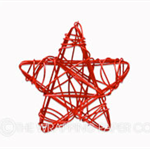 25 Red Star Wire Tags
