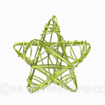 40 Green Star Wire Tags