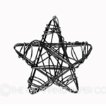 5 Black Star Wire Tags
