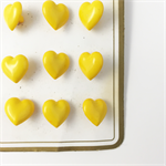Vintage Heart Buttons Yellow