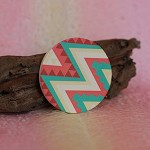 Handmade Photo Big Round Wooden Cabochons / Charm Pendant - HWC801L