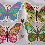 4pcsHandmade Wooden Lovely Butterfly Charms / Pendants HW304