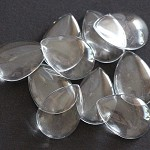 10 Glass Domes 18 x 25mm Teardrop