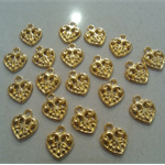 20 Gold Heart Charm Great for any Craft idea