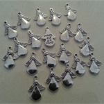 """20 Antiqued silver - finished Angel with engraved """"Made for an Angel"""" Charm"""