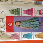 McCalls M4817 girls dress pattern