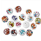 100 pcs. Assorted colorful elephant wood buttons