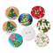 100 pcs. Assorted colorful christmas tree wood buttons