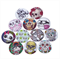 100 pcs. Assorted colorful skull head wood buttons