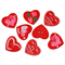 50 pcs. Assorted red heart wood buttons