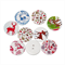 100 pcs. Assorted colorful christmas elk wood buttons