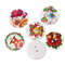 100 pcs. Assorted colorful christmas bell wood buttons