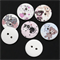 100 pcs. Assorted colorful animal wood buttons