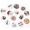 200 pcs. Assorted colorful anchor helm wood buttons