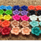 Resin Flowers, Cabochons - 14mm Daisy Sampler - 30pcs