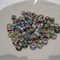 "40 x assorted round ""pandora"" style glass beads"