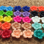 Resin Flower Cabochons - 14mm Daisy Sampler - 30pcs